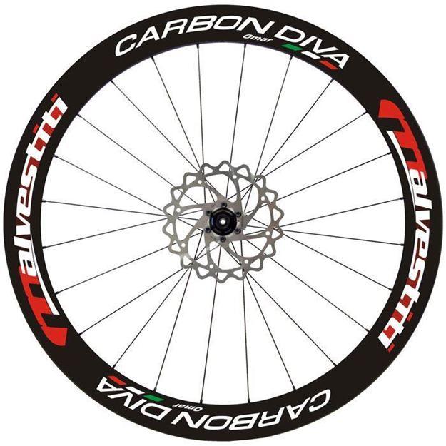 Caron Diva Disk Nero-Rosso